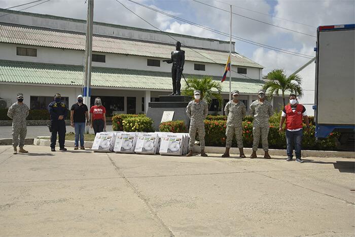 Brilla gases del caribe y la armada nacional unidos por el bienestar de la comunidad