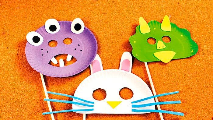 mascaras de plato de carton