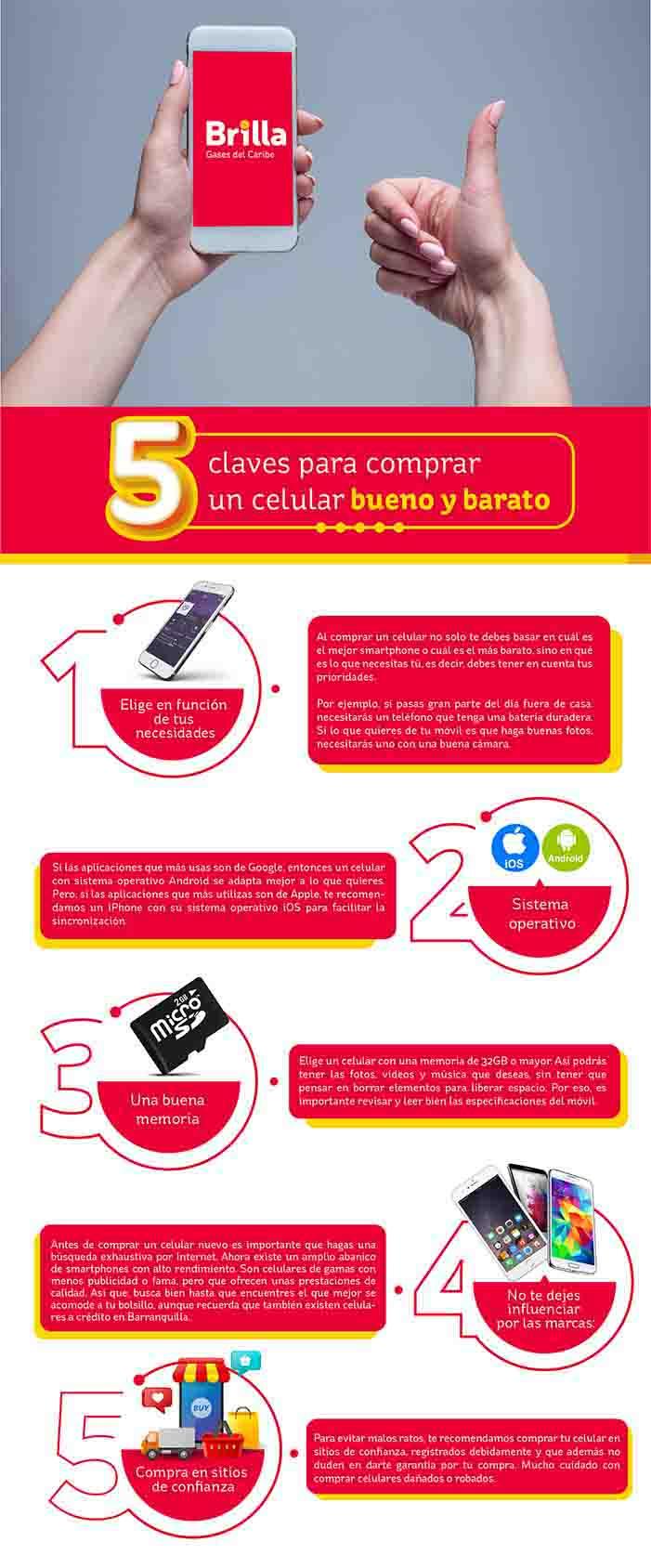 Claves para comprar un  celular - infografia-Brilla GasCaribe